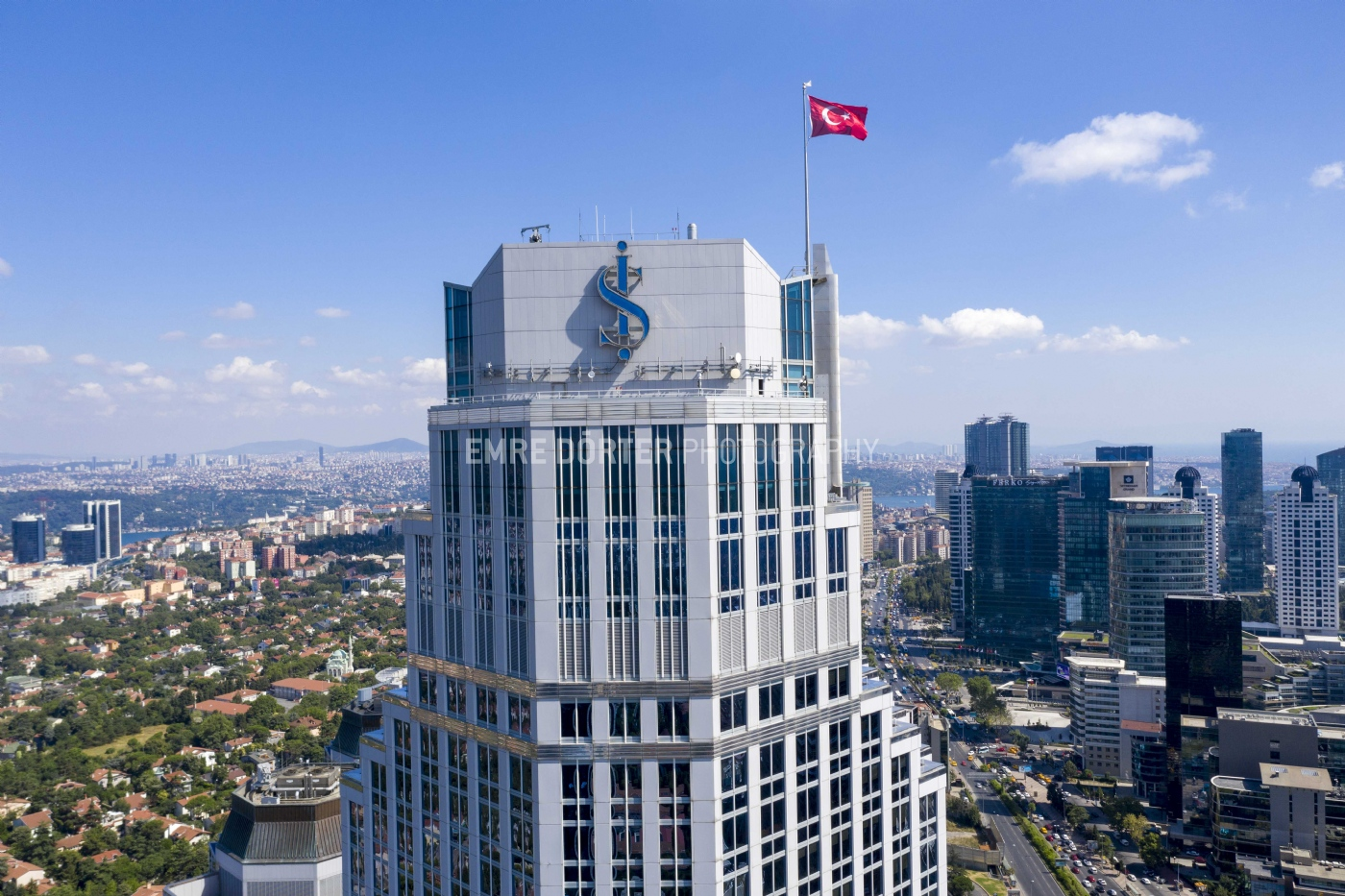 Is Bank Towers, Istanbul. July 2019